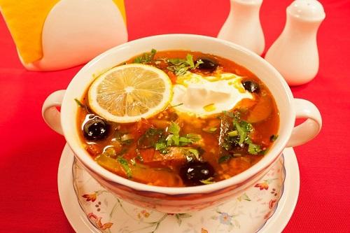 Суп мясная солянка рецепт с фото