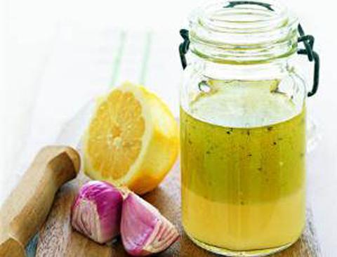 Заправка для салата масло лимонный сок