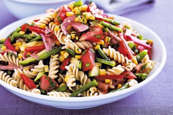 Рецепт салата с макаронами и ветчиной рецепт