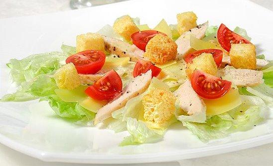 Салат цезарь рецепт пошаговый