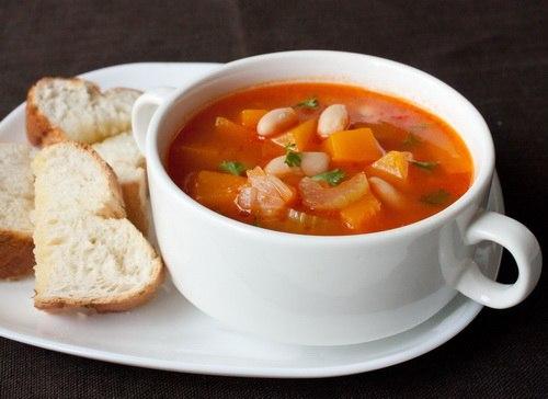 Как приготовить овощной суп из фасоли