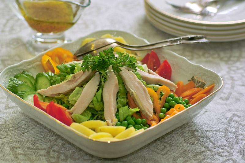 Салат из мяса птицы рецепт с