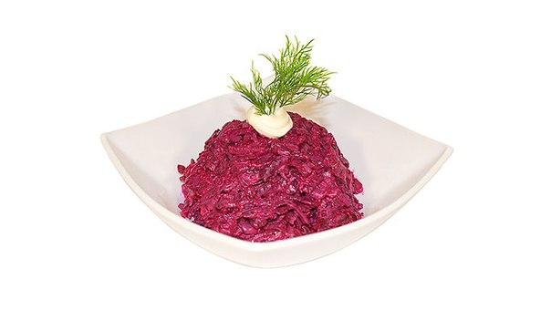 Салат из свеклы и чеснока с майонезом рецепт пошагово